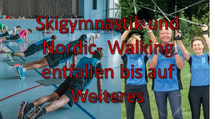 SKYGYMNASTIK UND NORDIC WALKING ENTFALLEN
